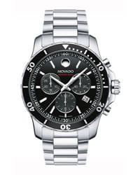 Movado Series 800 Chronograph Watch Gray Black Gray Black