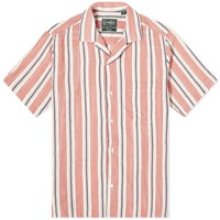 Gitman Brothers Vintage Camp Collar Awning Stripe Shirt Pink
