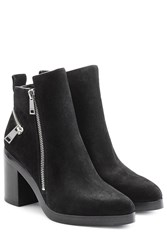 Kenzo Suede Ankle Boots With Block Heel Black