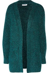Opening Ceremony Metallic Chunky Knit Cardigan Blue