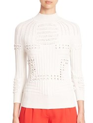 Mary Katrantzou Hardy Textured Sweater Off White