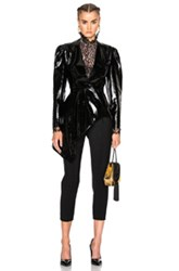 Lanvin Patent Leather Jacket In Black