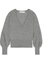 Antonio Berardi Merino Wool Sweater Light Gray