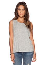 Dolan Pleated Shoulder Tank Gray