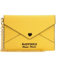 Miu Miu Leather Wallet Yellow