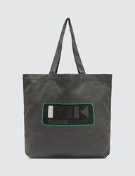 Maison Kitsune Mk Play Tote Bag Grey