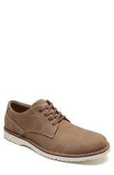 Rockport Men's Cabot Plain Toe Derby Taupe Nubuck