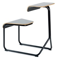 Knoll Toboggan Chair Desk Jet Black With Painted Top