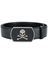 Philipp Plein Skull Buckle Belt Black