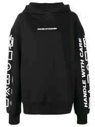 House Of Holland Handle With Care Hoodie Black