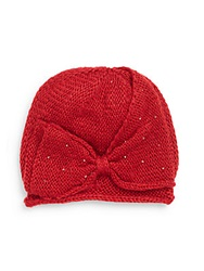 San Diego Hat Co. Beaded Bow Beanie Red