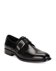 Karl Lagerfeld Leather Almond Toe Loafers Black