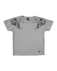 Molo Short Sleeve Animal Skull Jersey Tee Acid Sand