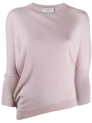 Pringle Of Scotland Asymmetric Panelled Jumper Pink