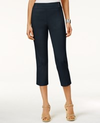 Jm Collection Embellished Pull On Capri Pants Only At Macy's Intrepid Blue