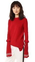 Mother Of Pearl Rubi Sweater Red White