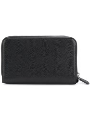 Canali Zip Around Wallet Black
