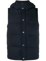 Sophnet. Wool Down Vest Blue