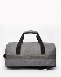 Asos Hybrid Holdall Backpack In Textured Canvas Grey