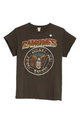 Madeworn 'S Ramones Graphic T Shirt Dirty Black