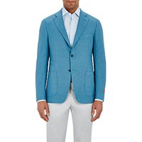 Isaia Men's Cortina Two Button Sportcoat Turquoise