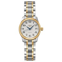 Longines L21285787 Women's Master Collection Automatic Date Two Tone Bracelet Strap Watch Silver Gold