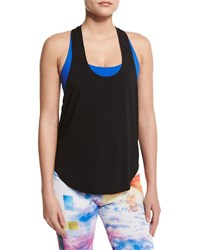 Elastic Y Back Tank Top Black Lemon Lime Onzie