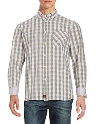 Strellson Checked Sportshirt Light Beige