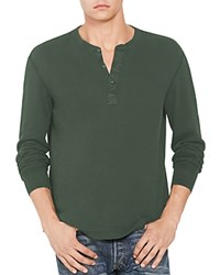 Polo Ralph Lauren Military Thermal Henley 100 Bloomingdale's Exclusive Defender Green