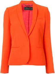 Barbara Bui Fitted Blazer Women Polyester Viscose 8 Red