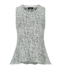 Theory Colisha Sleeveless Peplum Top Female Grey