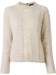 Piazza Sempione Panelled Sweater Nude And Neutrals