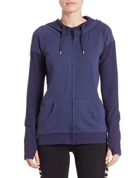 Bench Stretch Cotton Thumbhole Raglan Hoodie Blue