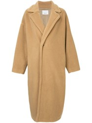 08Sircus Single Breasted Oversized Coat Brown