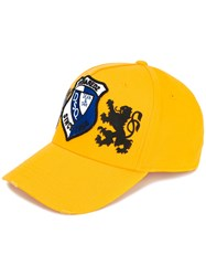 Dsquared2 Patch Embroidered Baseball Cap Yellow Orange