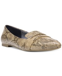 Dr. Scholl's Sofie Pointed Toe Ballet Flats Women's Shoes Stucco Snake