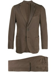 Dell'oglio Classic Two Piece Suit Brown