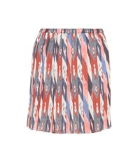 Etoile Isabel Marant Hanoi Pleated Printed Miniskirt Multicoloured
