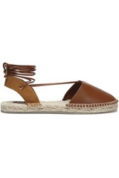Australia Luxe Collective Leather And Canvas Espadrilles Brown