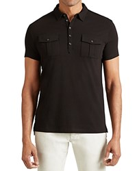 John Varvatos Star Usa Double Pocket Slim Fit Polo Shirt Black