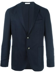 Boglioli Two Button Blazer Blue
