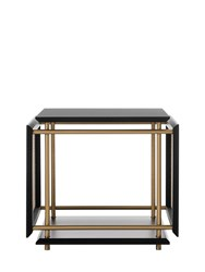 Gebruder Thonet Vienna Wiener Box Coffee Table Black Beige