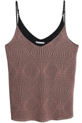 Tart Collections Metallic Jacquard Knit Top Antique Rose
