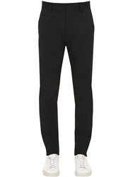 Dsquared 16.5Cm Stretch Cotton Cigarette Pants Black