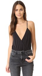 Blaque Label Deep V Neck Bodysuit Black