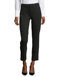 Lord And Taylor Ponte Ankle Trousers Black