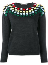 Marco De Vincenzo Bow Embellished Knit Grey