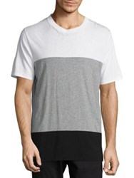 Rag And Bone Colorblock Precision T Shirt White Grey Fiery Red