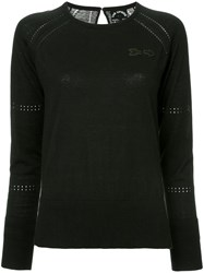 The Upside Arrow Embroidered Sweater Black