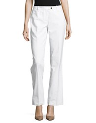 Calvin Klein Straight Leg Dress Pants White